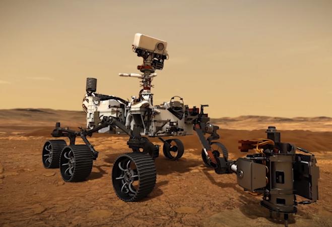 """Первые шаги: """"Персеверанс"""" проехал 6,5 метра по поверхности Марса"""