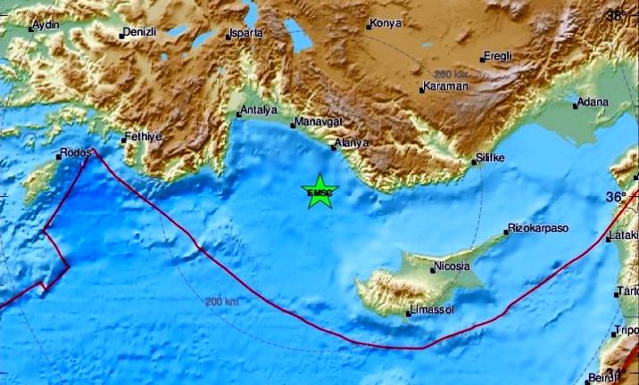 Меж Турцией и Кипром: сильное землетрясение почувствовали и израильтяне