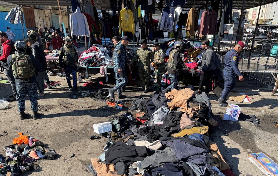 Двойной теракт в Багдаде: момент одного из взрывов попал на видео