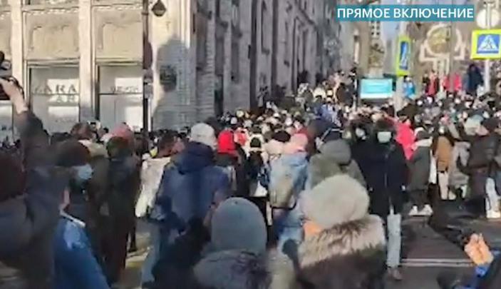 В Хабаровске устроили хоровод в поддержку Навального