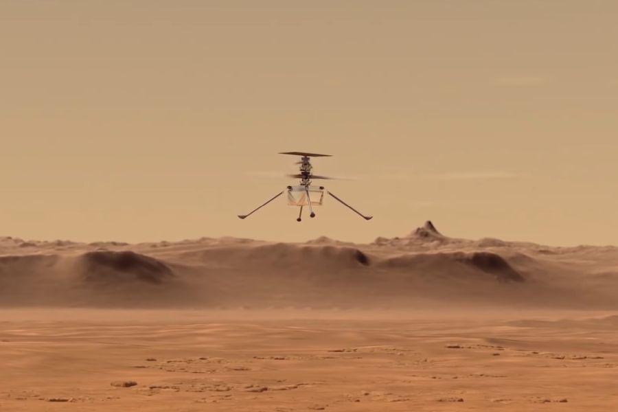 На ковре-вертолете: винтокрылый дрон НАСА совершил первый полет на Марсе