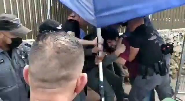 """Он вам не Бибон: полиция жестко разогнала """"антибеннетовских"""" демонстрантов в Раанане"""